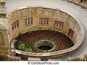 Round well and  wall of Castle Hohenzollern