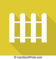 Round white barrier icon, flat style