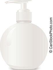 Round white bottle vector