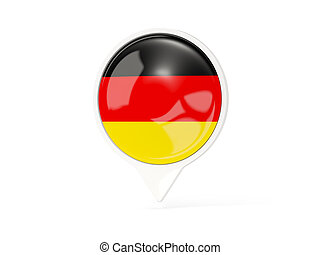 Round white pin with flag of germany