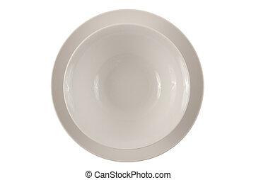 Round white plate and bowl