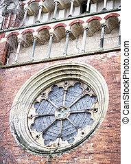 Round window of a church