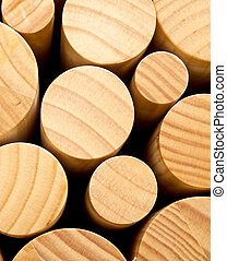 Round wood - Abstract of round pieces of wood