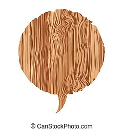 round wood chat bubble icon