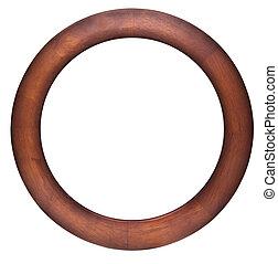 Round wooden frame