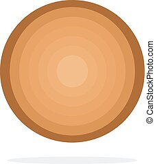Round wooden Log vector flat isolated