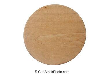 round wooden notice board