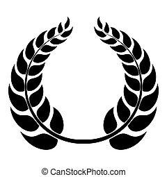 Round wreath icon, simple style