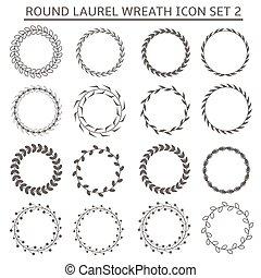 Round wreath icons