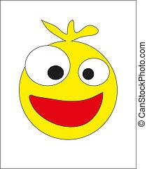 Round yellow smiley. vector