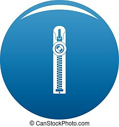 Round zip icon vector blue