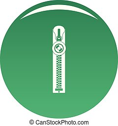 Round zip icon vector green