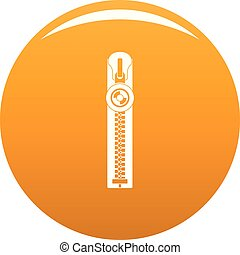 Round zip icon vector orange