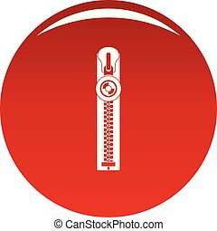 Round zip icon vector red