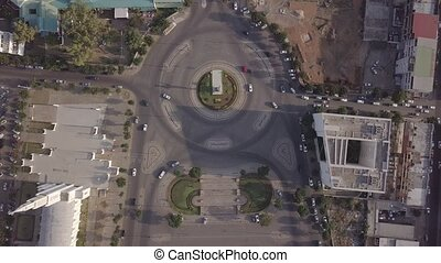 Roundabout next to Cathedral of Maputo, Independence Square...