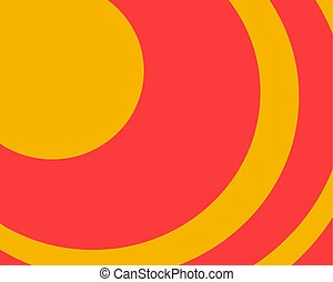 rounded abstract geometric bright background