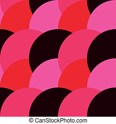 Rounded abstract seamless pattern