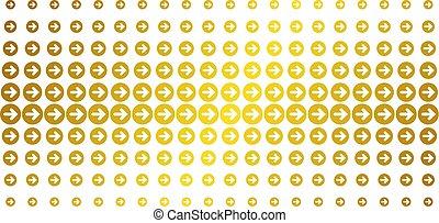 Rounded Arrow Golden Halftone Matrix