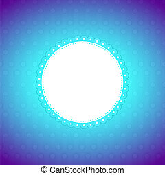 Rounded artistic banner, colorful lighting background
