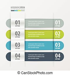 Rounded Banner template green, blue, gray color