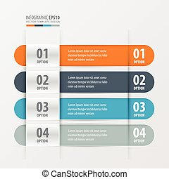 Rounded Banner template Orange , blue, gray color