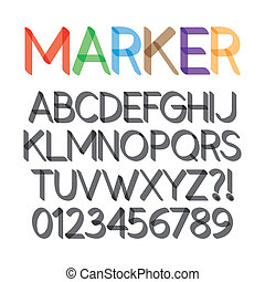 Rounded Bold Marker Pen Font