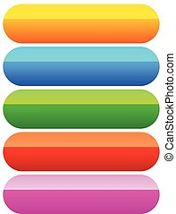 Rounded button, banner backgrounds in 5 colors.