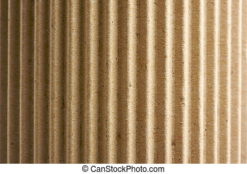 Rounded Corrugated Cardboard Background with Narrow Depth of...