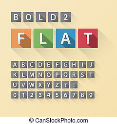 Rounded Flat Font and Numbers