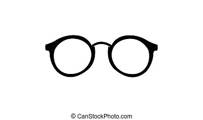 Rounded Glasses on a white background