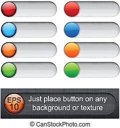 Rounded glossy sliders. - Eps10 vector. Different blending ...