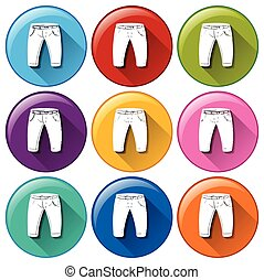 Rounded icons with pants