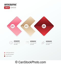Rounded rectangles infographic love style