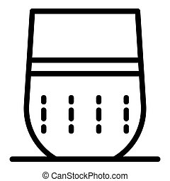 Rounded smart speaker icon, outline style
