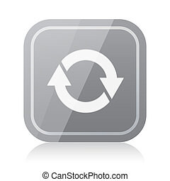 Rounded square update icon with reflection