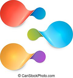Rounded twisted two-sided color sale tag