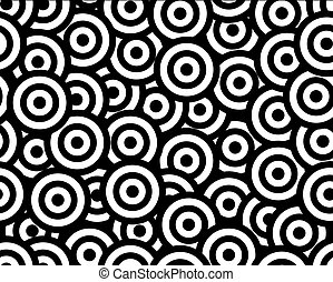 rounds black and white seamless pattern