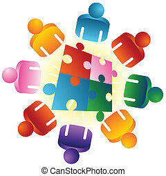 Roundtable Puzzle Solving Team - An image of a roundtable...