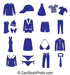 roupa, ícone, jogo, eps10