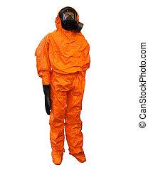 roupa protetora, amarela