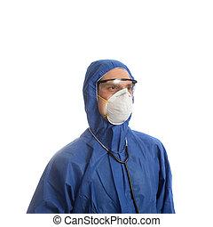 roupa protetora, doutor