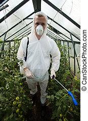 roupa protetora, jardineiro