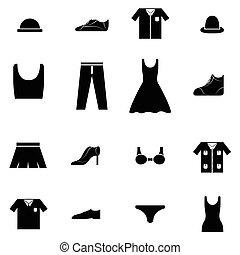roupas, jogo, ícone
