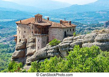 Roussanou Monastery. Meteora, Greece - View of the Meteora ...