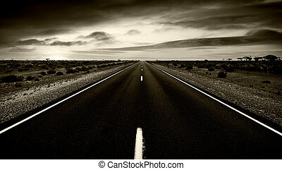 route, à, nulle part
