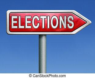 route, élections, signe flèche