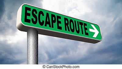route évasion, à, sécurité