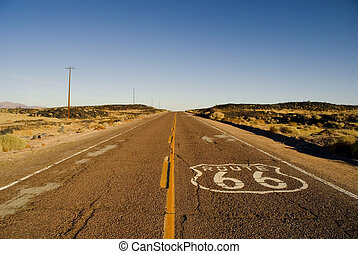Route 66 - A section of the historic route 66 in California