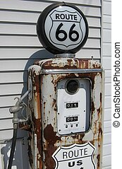 route 66 gas pump - vintage route 66 gas pump