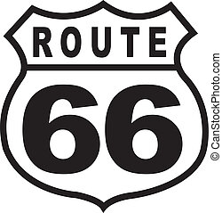 Route 66 Highway Sign Retro Vintage